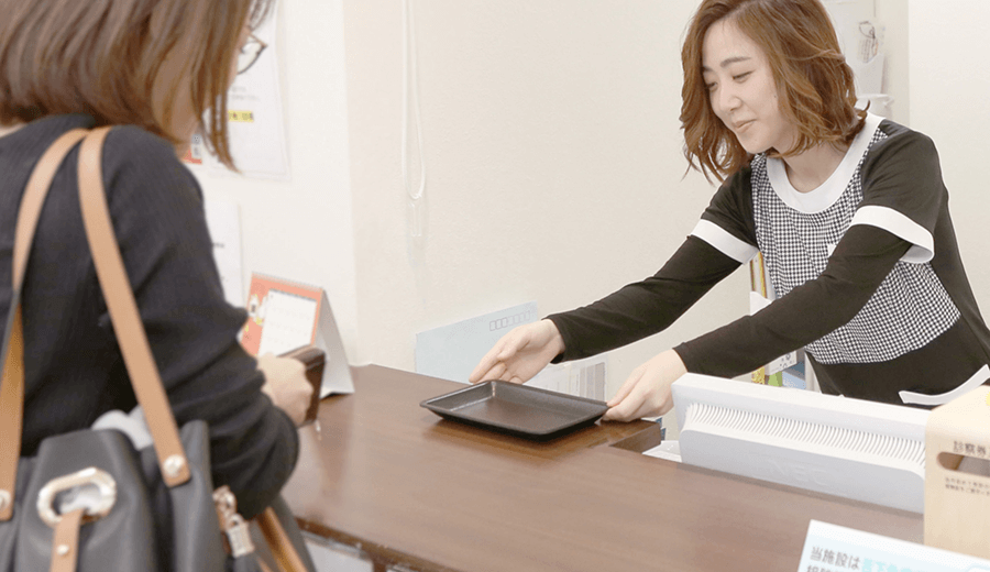 仙台の外科「みのりファミリークリニック」は受付にてお会計をお願いしています